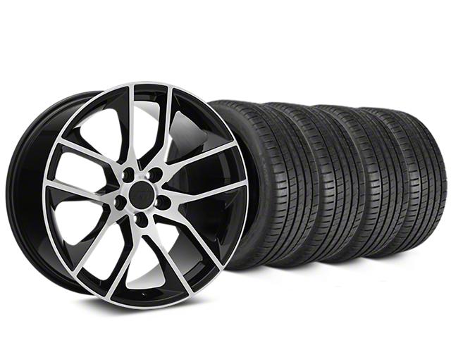 Magnetic Style Black Machined Wheel & Michelin Pilot Super Sport Tire Kit - 19x8.5 (15-18 All)