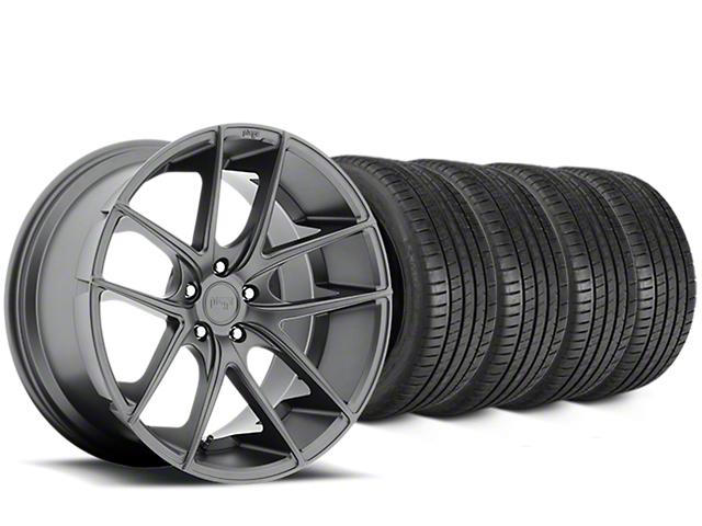Niche Targa Matte Anthracite Wheel & Michelin Pilot Super Sport Tire Kit - 19x8 (15-17 All)