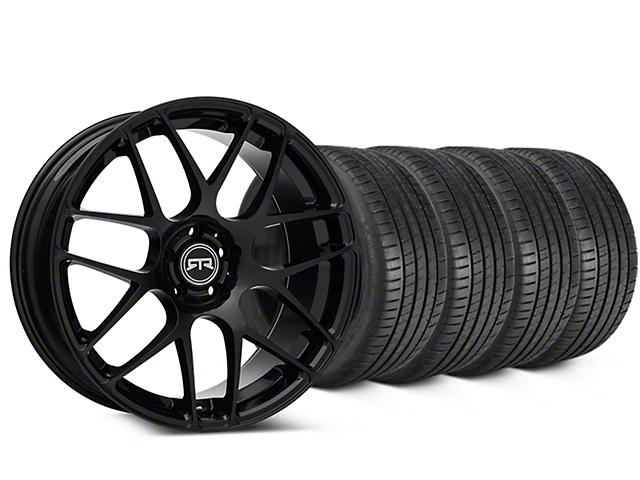 RTR Black Wheel & Michelin Pilot Super Sport Tire Kit - 19x8.5 (15-18 GT, EcoBoost, V6)