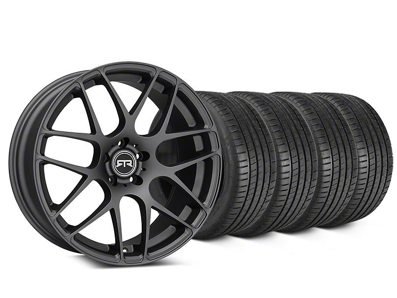 RTR Charcoal Wheel & Michelin Pilot Super Sport Tire Kit - 19x8.5 (15-17 All)