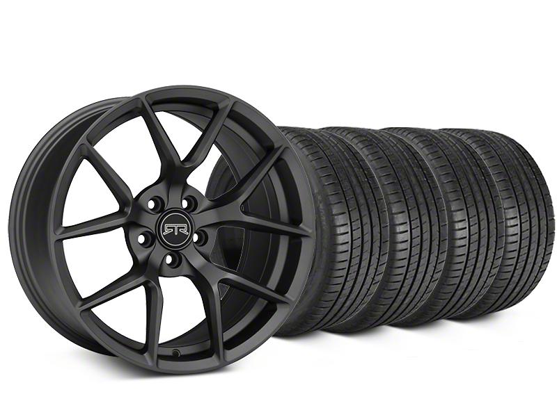 RTR Tech 5 Charcoal Wheel & Michelin Pilot Super Sport Tire Kit - 19x9.5 (15-17 All)