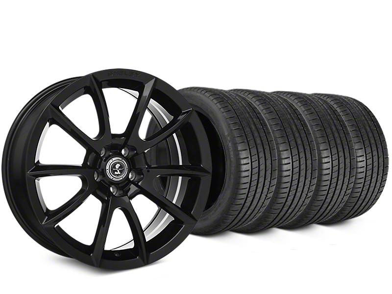 Shelby Super Snake Style Black Wheel & Michelin Pilot Super Sport Tire Kit - 19x8.5 (15-18 All)