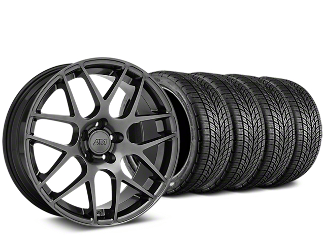 AMR Dark Stainless Wheel & BF Goodrich G-FORCE COMP 2 Tire Kit - 20x8.5 (15-18 GT, EcoBoost, V6)