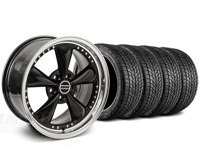 Bullitt Motorsport Black Wheel & BF Goodrich G-FORCE COMP 2 Tire Kit - 20x8.5 (15-18 EcoBoost, V6)