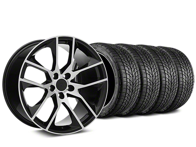 Magnetic Style Black Machined Wheel & BF Goodrich G-FORCE COMP 2 Tire Kit - 20x8.5 (15-18 GT, EcoBoost, V6)
