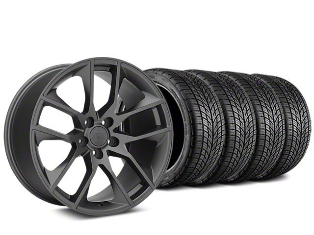Magnetic Style Charcoal Wheel & BF Goodrich G-FORCE COMP 2 Tire Kit - 20x8.5 (15-18 GT, EcoBoost, V6)