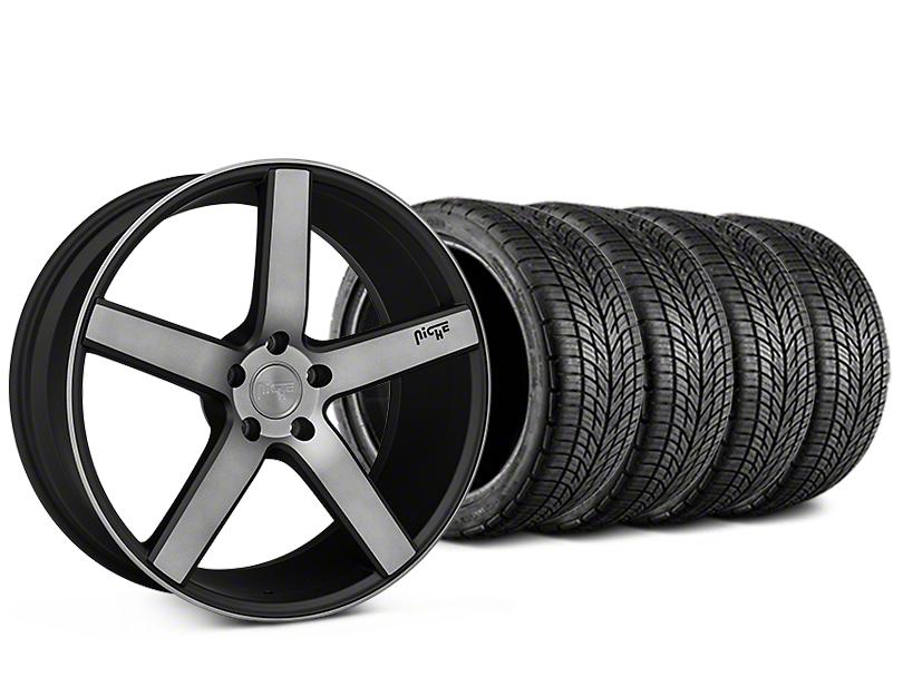 Niche Milan Matte Black Machined Wheel & BF Goodrich G-FORCE COMP 2 Tire Kit - 20x8.5 (15-18 All)