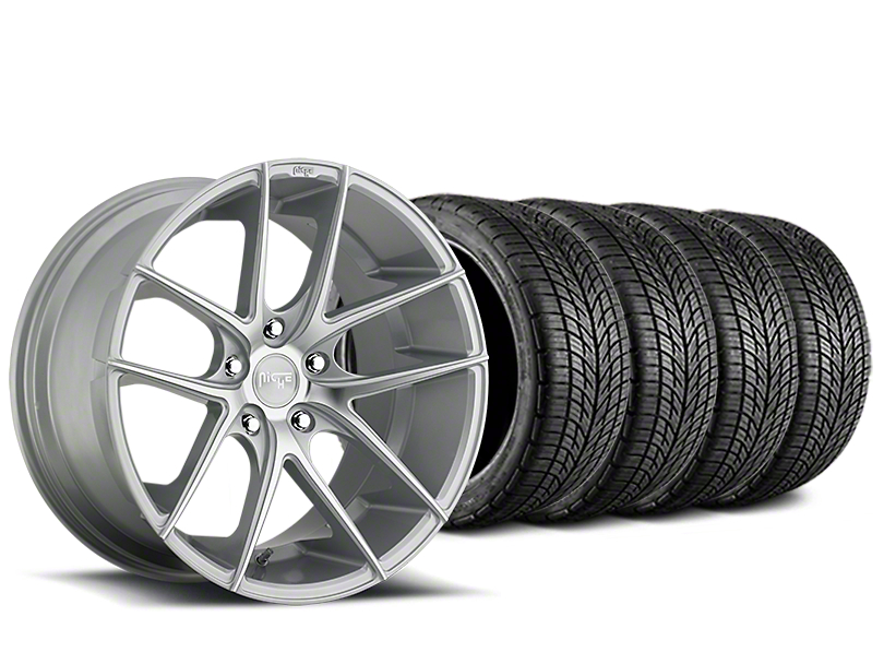 Niche Targa Matte Silver Wheel & BF Goodrich G-FORCE COMP 2 Tire Kit - 20x8.5 (15-18 All)