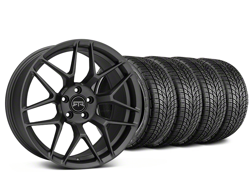 RTR Tech 7 Charcoal Wheel & BF Goodrich G-FORCE COMP 2 Tire Kit - 20x9.5 (15-18 GT, EcoBoost, V6)