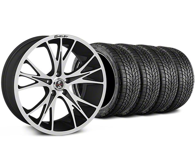 Shelby CS1 Black Machined Wheel & BF Goodrich G-FORCE COMP 2 Tire Kit - 20x9 (15-18 GT, EcoBoost, V6)