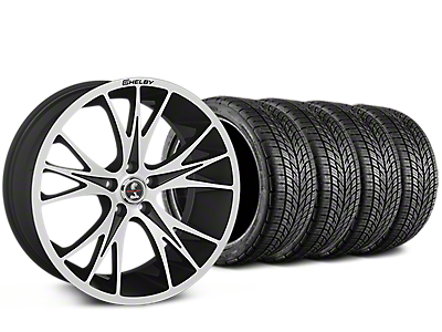 Shelby CS1 Black Machined Wheel & BF Goodrich G-FORCE COMP 2 Tire Kit - 20x9 (15-17 V6, GT, and EcoBoost)