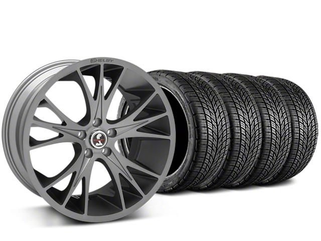 Shelby CS1 Gunmetal Wheel & BF Goodrich G-FORCE COMP 2 Tire Kit - 20x9 (15-17 GT, V6, and EcoBoost)