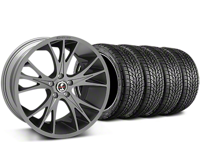 Shelby CS1 Gunmetal Wheel & BF Goodrich G-FORCE COMP 2 Tire Kit - 20x9 (15-17 GT, V6, and EcoBoost)