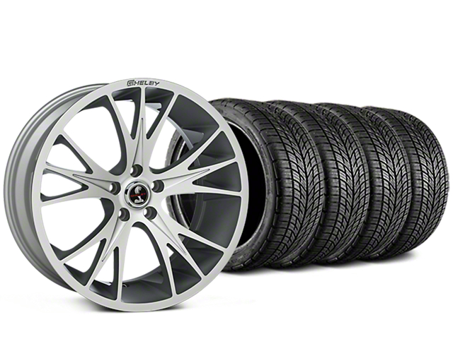 Shelby CS1 Hyper Silver Wheel & BF Goodrich G-FORCE COMP 2 Tire Kit - 20x9 (15-17 V6, GT, and EcoBoost)