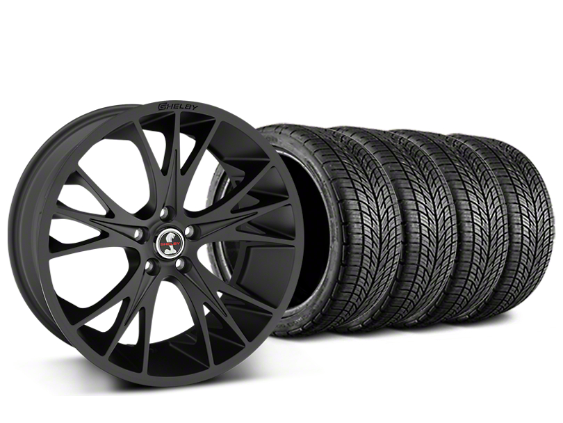 Shelby CS1 Matte Black Wheel & BF Goodrich G-FORCE COMP 2 Tire Kit - 20x9 (15-18 GT, EcoBoost, V6)