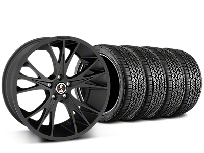 Shelby CS1 Matte Black Wheel & BF Goodrich G-FORCE COMP 2 Tire Kit - 20x9 (15-17 GT, V6, and EcoBoost)