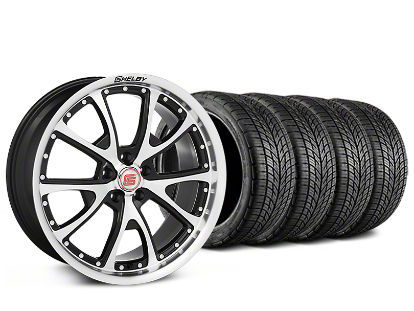 Shelby CS40 Black Machined Wheel & BF Goodrich G-FORCE COMP 2 Tire Kit - 20x9 (15-17 All)
