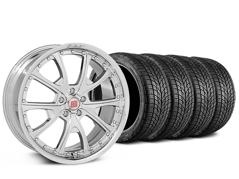 Shelby CS40 Chrome Wheel & BF Goodrich G-FORCE COMP 2 Tire Kit - 20x9 (15-17 V6, GT, and EcoBoost)