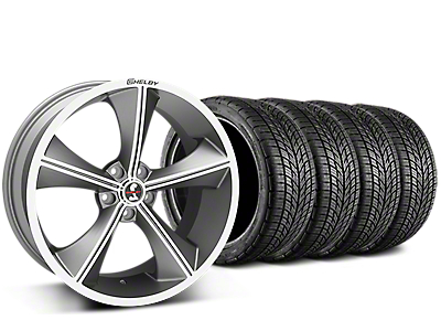 Shelby CS70 Gunmetal Wheel & BF Goodrich G-FORCE COMP 2 Tire Kit - 20x9 (15-17 V6, GT, and EcoBoost)