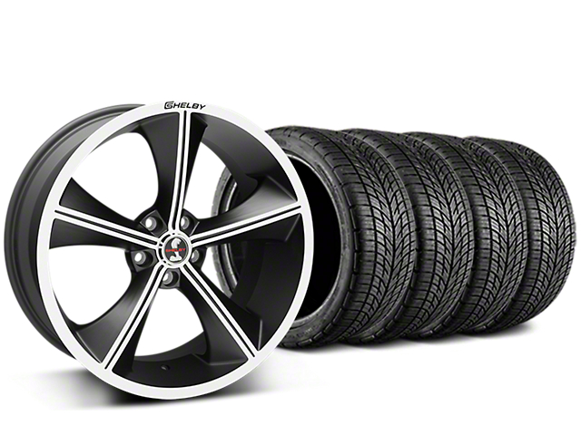 Shelby CS70 Matte Black Wheel & BF Goodrich G-FORCE COMP 2 Tire Kit - 20x9 (15-17 V6, GT, and EcoBoost)