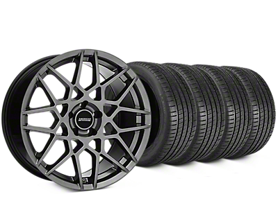 2013 GT500 Style Hyper Dark Wheel & Michelin Pilot Super Sport Tire Kit - 20x8.5 (15-17 GT, EcoBoost, V6)