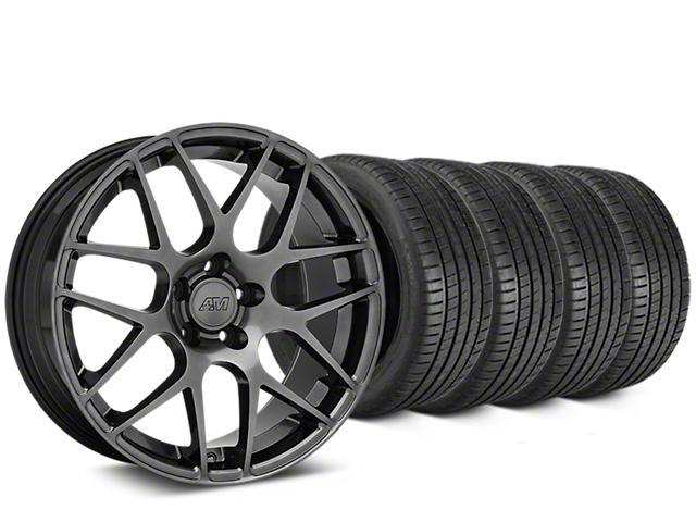 AMR Dark Stainless Wheel & Michelin Pilot Super Sport Tire Kit - 20x8.5 (15-18 GT, EcoBoost, V6)