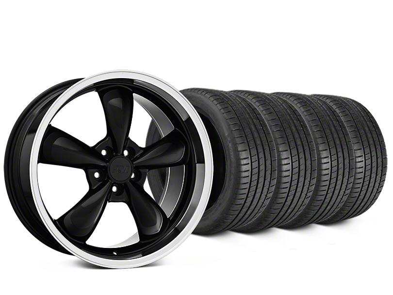 Bullitt Black Wheel & Michelin Pilot Super Sport Tire Kit - 20x8.5 (15-17 EcoBoost, V6)