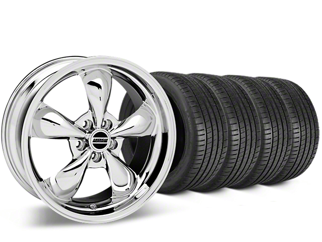 Bullitt Chrome Wheel & Michelin Pilot Super Sport Tire Kit - 20x8.5 (15-18 EcoBoost, V6)