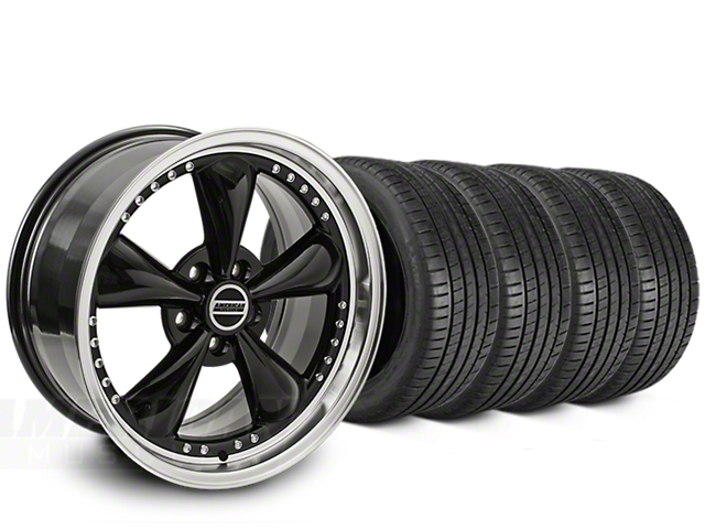 Bullitt Motorsport Black Wheel & Michelin Pilot Super Sport Tire Kit - 20x8.5 (15-18 EcoBoost, V6)