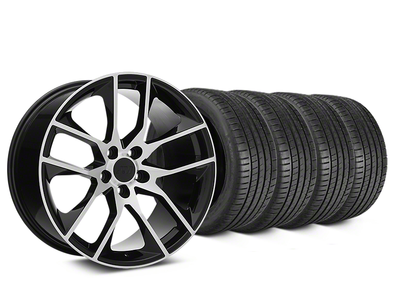 Magnetic Style Black Machined Wheel & Michelin Pilot Super Sport Tire Kit - 20x8.5 (15-18 GT, EcoBoost, V6)
