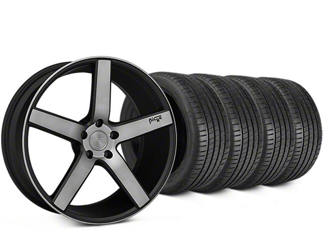 Niche Milan Matte Black Machined Wheel & Michelin Pilot Super Sport Tire Kit - 20x8.5 (15-19 All)