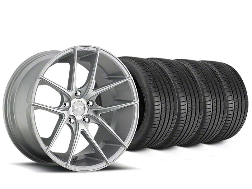 Niche Targa Matte Silver Wheel & Michelin Pilot Super Sport Tire Kit - 20x8.5 (15-19 All)
