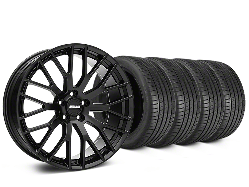 Performance Pack Style Black Wheel & Michelin Pilot Super Sport Tire Kit - 20x8.5 (15-18 All)
