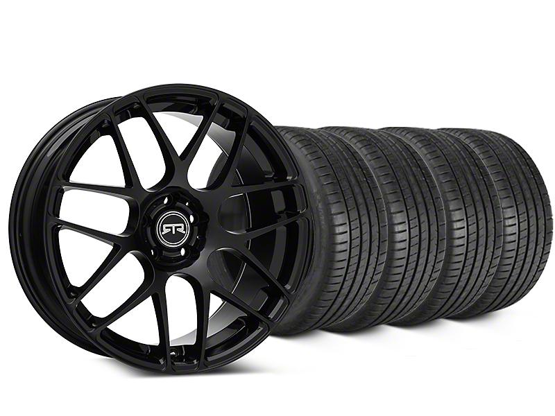 RTR Black Wheel & Michelin Pilot Super Sport Tire Kit - 20x9 (15-18 GT, EcoBoost, V6)