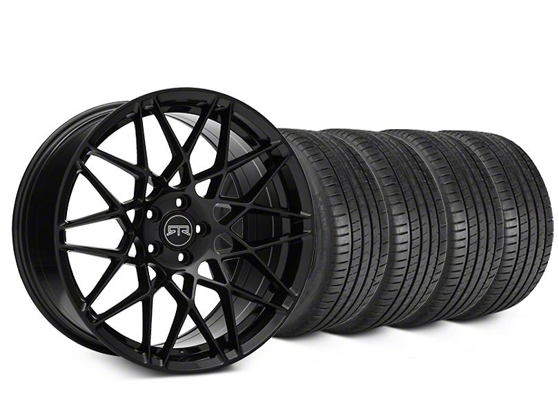 RTR Tech Mesh Black Wheel & Michelin Pilot Super Sport Tire Kit - 20x9.5 (15-18 GT, EcoBoost, V6)