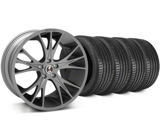 Shelby CS1 Gunmetal Wheel & Michelin Pilot Super Sport Tire Kit - 20x9 (15-19 All)
