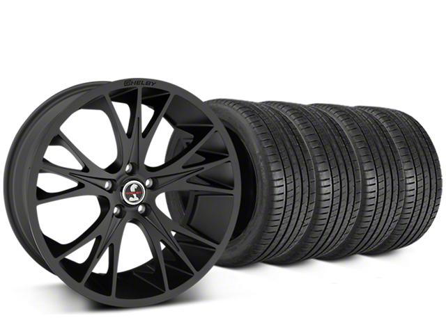 Shelby CS1 Matte Black Wheel & Michelin Pilot Super Sport Tire Kit - 20x9 (15-17 All)