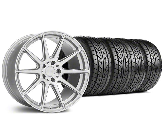 Staggered Niche Essen Silver Wheel & NITTO NT555 G2 Tire Kit - 19x8.5/10 (05-14 All)