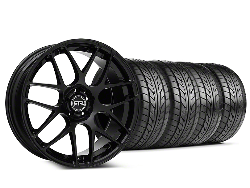 Staggered RTR Black Wheel & NITTO NT555 G2 Tire Kit - 19 in. - 3 Rear Options (05-14 All)