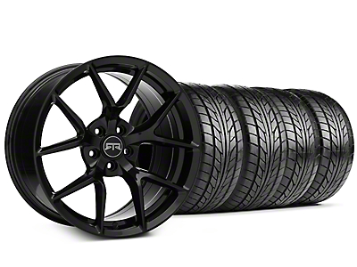 Staggered RTR Tech 5 Black Wheel & NITTO NT555 G2 Tire Kit - 19 in. - 3 Rear Options (05-14 All)