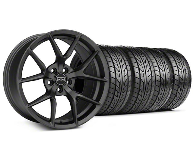 Staggered RTR Tech 5 Charcoal Wheel & NITTO NT555 G2 Tire Kit - 19x9.5/10.5 (05-14 All)