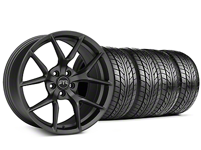 Staggered RTR Tech 5 Charcoal Wheel & NITTO NT555 G2 Tire Kit - 19 in. - 3 Rear Options (05-14 All)