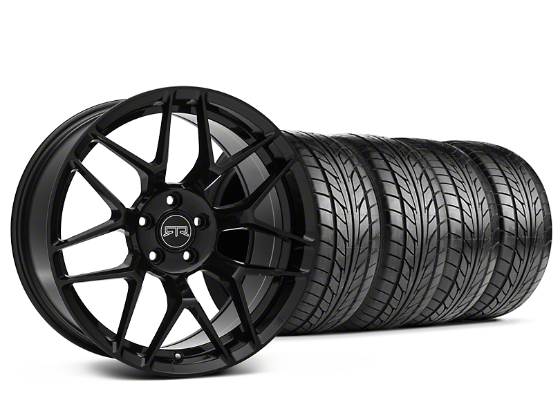 Staggered RTR Tech 7 Black Wheel and NITTO NT555 G2 Tire Kit; 19x9.5/10.5 (05-14 All)