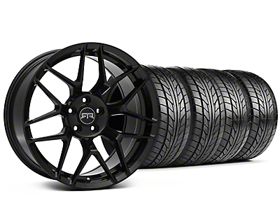 Staggered RTR Tech 7 Black Wheel & NITTO NT555 G2 Tire Kit - 19x9.5/10.5 (05-14 All)