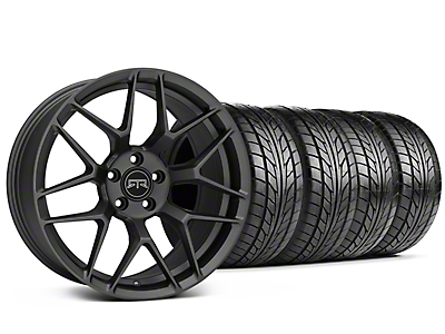 Staggered RTR Tech 7 Charcoal Wheel & NITTO NT555 G2 Tire Kit - 19 in. - 3 Rear Options (05-14 All)