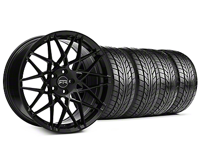 Staggered RTR Tech Mesh Black Wheel & NITTO NT555 G2 Tire Kit - 19 in. - 3 Rear Options (05-14 All)