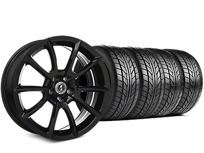 Staggered Shelby Super Snake Style Black Wheel & NITTO NT555 G2 Tire Kit - 19x8.5/10 (05-14 All)