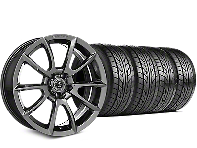 Staggered Shelby Super Snake Style Chrome Wheel & NITTO NT555 G2 Tire Kit - 19x8.5/10 (05-14 All)