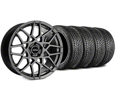 Staggered 2013 GT500 Style Hyper Dark Wheel & BF Goodrich G-FORCE COMP 2 Tire Kit - 19x8.5/10 (05-14 All)