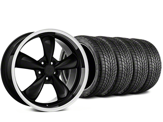 Staggered Bullitt Black Wheel & BF Goodrich G-FORCE COMP 2 Tire Kit - 19x8.5/10 (05-14 Standard GT, V6)